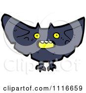 Clipart Spooky Halloween Vampire Bat Royalty Free Vector Illustration