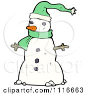 Clipart Christmas Winter Snowman 1 Royalty Free Vector Illustration