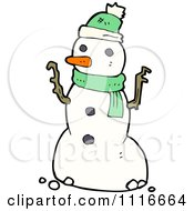 Clipart Christmas Winter Snowman 2 Royalty Free Vector Illustration