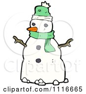Clipart Christmas Winter Snowman 3 Royalty Free Vector Illustration by lineartestpilot