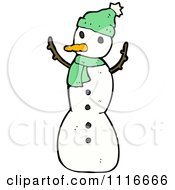 Clipart Christmas Winter Snowman 4 Royalty Free Vector Illustration