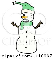 Clipart Christmas Winter Snowman 5 Royalty Free Vector Illustration