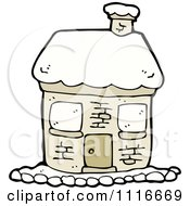Clipart Winter Home With Snow 1 Royalty Free Vector Illustration
