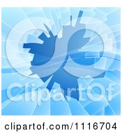Vector Clipart Of A Background Of Shattered Blue Glass With Shards Royalty Free Graphic Illustration by AtStockIllustration