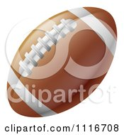 Vector Clipart Of A Traditional American Football With White Lines And Laces Royalty Free Graphic Illustration by AtStockIllustration