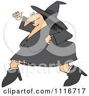 Halloween Witch Running