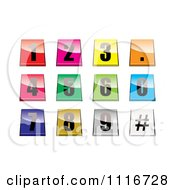 Vector Clipart Of 3d Shiny And Colorful Number Tab Buttons Royalty Free Graphic Illustration by michaeltravers