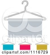 Vector Clipart Of Hanger And Cloth Icons Royalty Free Graphic Illustration
