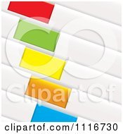 Vector Clipart Of Colorful Diagonal Folder Tags Royalty Free Graphic Illustration by michaeltravers