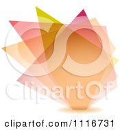 Vector Clipart Of An Abstract Pastel Shard Background Royalty Free Graphic Illustration