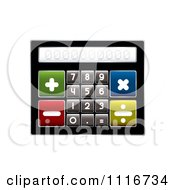Vector Clipart Of A Compact Calculator With Big Buttons Royalty Free Graphic Illustration