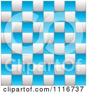 Blue And White Checkered Board Background