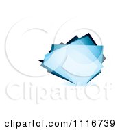 Abstract Blue Glass Shard Background