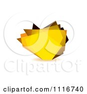 Vector Clipart Of A Abstract Yellow Glass Shard Background Royalty Free Graphic Illustration