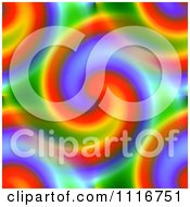 Clipart Of A Seamless Rainbow Swirl Background Pattern Royalty Free Illustration