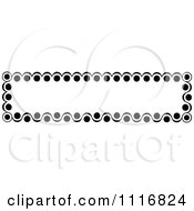 Clipart Of A Retro Vintage Black And White Banner Border Sign 5 Royalty Free Vector Illustration