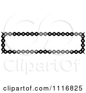 Clipart Of A Retro Vintage Black And White Banner Border Sign 4 Royalty Free Vector Illustration