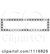 Clipart Of A Retro Vintage Black And White Banner Border Sign 3 Royalty Free Vector Illustration by Prawny Vintage
