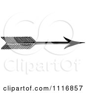 Clipart Of A Retro Vintage Black And White Archery Arrow Royalty Free Vector Illustration by Prawny Vintage #COLLC1116857-0178