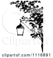 Clipart Of A Retro Vintage Black And White Street Lamp And Tree Branch Royalty Free Vector Illustration by Prawny Vintage