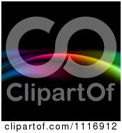 Clipart Of A Neon Rainbow Lights On Black Royalty Free CGI Illustration by KJ Pargeter