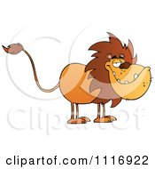 Clipart Of A Grinning Male Lion Royalty Free Vector Illustration by Hit Toon