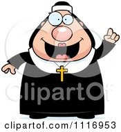 Vector Cartoon Nun In Her Habit With An Idea Royalty Free Clipart Graphic by Cory Thoman
