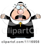 Vector Cartoon Frightened Nun In Her Habit Royalty Free Clipart Graphic by Cory Thoman