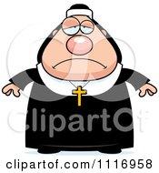 Depressed Nun In Her Habit