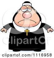 Vector Cartoon Depressed Nun In Her Habit Royalty Free Clipart Graphic by Cory Thoman