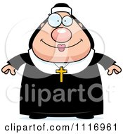 Vector Cartoon Happy Nun In Her Habit Royalty Free Clipart Graphic