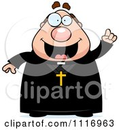 Vector Cartoon Priest With An Idea Royalty Free Clipart Graphic by Cory Thoman