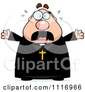 Vector Cartoon Frightened Priest Royalty Free Clipart Graphic by Cory Thoman