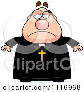 Vector Cartoon Depressed Priest Royalty Free Clipart Graphic by Cory Thoman