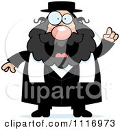 Vector Cartoon Rabbi With An Idea Royalty Free Clipart Graphic