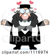 Vector Cartoon Loving Rabbi Royalty Free Clipart Graphic by Cory Thoman