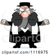 Vector Cartoon Angry Rabbi Royalty Free Clipart Graphic by Cory Thoman