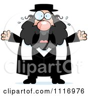 Vector Cartoon Frightened Rabbi Royalty Free Clipart Graphic by Cory Thoman