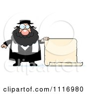 Vector Cartoon Rabbi With A Sign Royalty Free Clipart Graphic by Cory Thoman