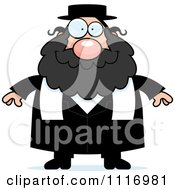 Vector Cartoon Happy Rabbi Royalty Free Clipart Graphic