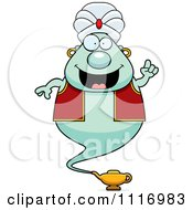 Vector Cartoon Chubby Green Genie With An Idea Royalty Free Clipart Graphic by Cory Thoman