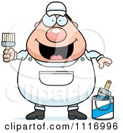 Vector Cartoon Male House Painter Worker Royalty Free Clipart Graphic by Cory Thoman