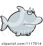 Vector Cartoon Bored Dolphin Royalty Free Clipart Graphic by Cory Thoman
