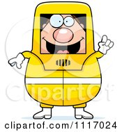 Vector Cartoon Hazmat Hazardous Materials Removal Worker With An Idea Royalty Free Clipart Graphic by Cory Thoman