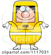 Vector Cartoon Hazmat Hazardous Materials Removal Worker Royalty Free Clipart Graphic