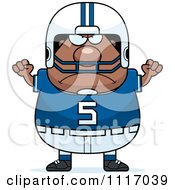 Vector Cartoon Of A Angry Chubby Black Football Player Royalty Free Clipart Graphic by Cory Thoman