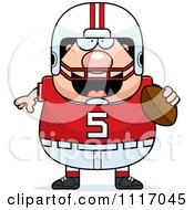 Vector Cartoon Of A Chubby White Football Player Royalty Free Clipart Graphic by Cory Thoman
