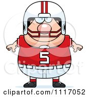 Vector Cartoon Of A Happy Chubby White Football Player Royalty Free Clipart Graphic by Cory Thoman