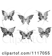 Vector Clipart Black And White Butterflies Royalty Free Graphic Illustration by Seamartini Graphics