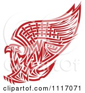 Vector Clipart Red Tribal Griffin Or Eagle Royalty Free Graphic Illustration